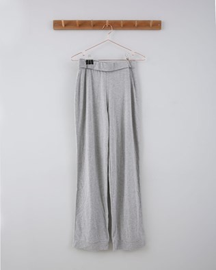 Organic Cotton Roll Over Top Pyjama Bottoms - Size 8 - Grey Marl 714