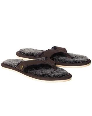 Shearling Flip Flops - Size 7 - Mocca 538