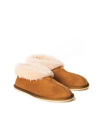 Mens Bootee Slippers - Size 13 - Burnt Honey 555