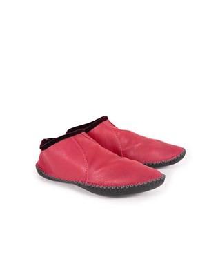 Leather Baboushka - Size 3 - Red - 942