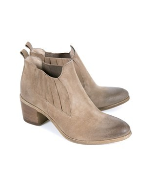 Pleated Cuban Boots - Size 38 - Stone - 980