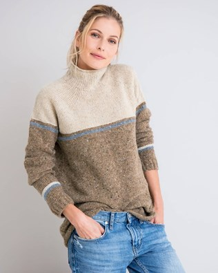 Flecked Funnel Neck