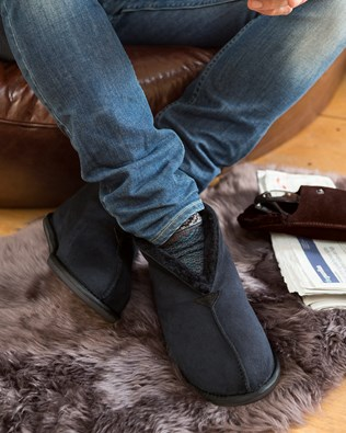 8662bc8cb98 Men's Sheepskin Slippers, Moccasins & Slipper Boots | Celtic & Co