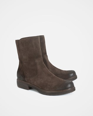 Essential Leather Ankle Boot - Size 40 - Chocolate - 1624