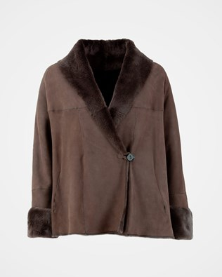Shawl collar - Size 12 - Dark Choc - 2011