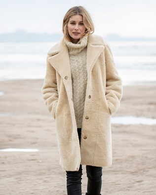 Reversible Cocoon Teddy Coat