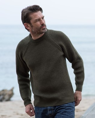 Men's Ribbed Fishermans Sweater