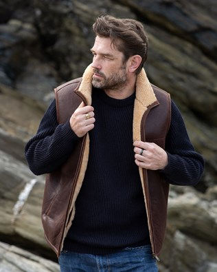 Men's Shearling Bodywarmer