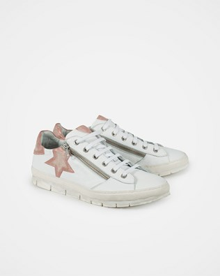 Embellished Trainers - White/Antique Rose - Size 39 - 2783