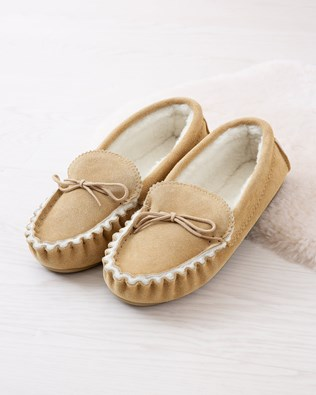 Moccasin Slippers- Hard Sole