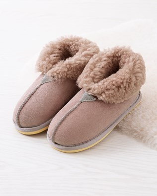 Kids Sheepskin Slippers - Sky Pink - Size 11-12 - 2483