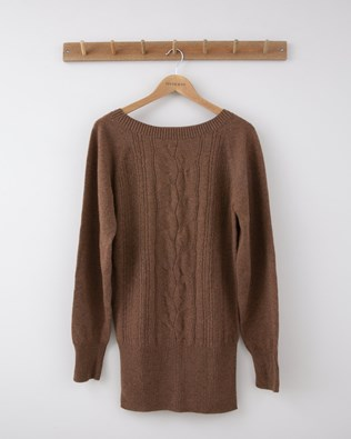 Lace Cable Supersoft Jumper - Small - Rust - 1276