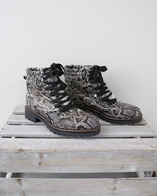 Hiker Boot - Size 39 - Black & White Snake -1325