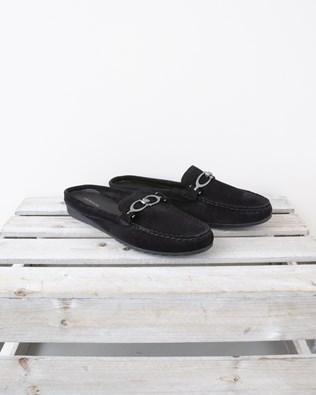 Slip on Loafer Mule - Size 40 - Black - 1332