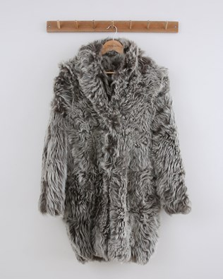 Long Himilayan Coat - Size 10 - Olive - 1487