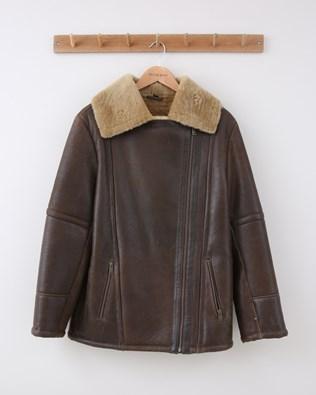 Boyfriend Aviator Jacket - Size 10 - Antique Camel - 1502