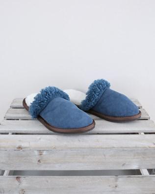 Ladies Turnback Mules - Size 6 - Icelandic Blue - 1553