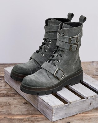 Combat Ankle Boots - Size 42 - Grey - 2102