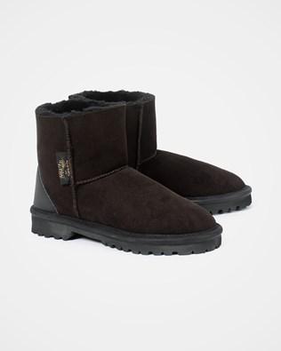 Aqualamb Shortie Boot - Darkest Brown - Size 6 - 2498