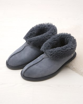Men's Sheepskin Bootee Slippers
