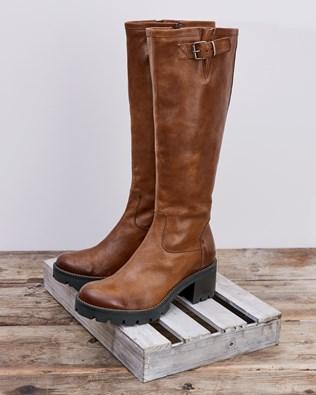 Biker Knee Boot - Antique Brown - Size 37 - 2585