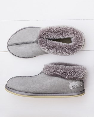 Ladies Sheepskin Bootee Slippers