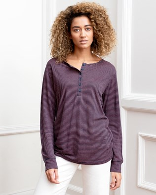 Linen Henley Top