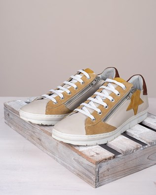 Embellished Trainers - Swansdown/Gorse - Size 40 - 2762