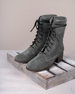 Block Heel Derby Boots