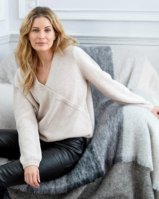 Luxe Lounge Wrap Sweater