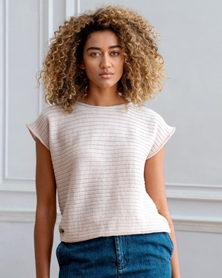 Merino Horizontal Rib Top