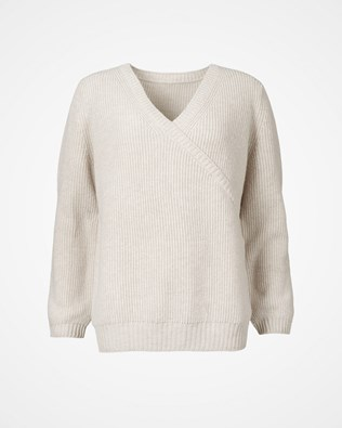 Luxe Lounge Wrap Jumper - Swansdown - Size small - 2548