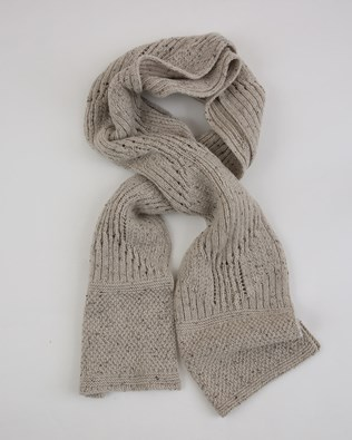 Donegal Detail Scarf - One Size - Grey Mix - 1973