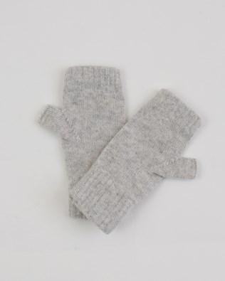 Cashmere Wristwarmers - One Size Grey Melange - 1972