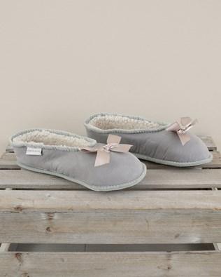 Merino Ballerina Slipper - Size 6 - Light Grey - 1976