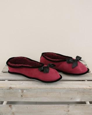 Merino Ballerina Slipper - Size 6 - Berry - 1977