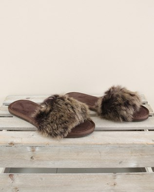 Toscana Slide - Size 6 - Mocca Snow Tip - 1981