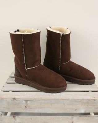 Zip Back Boots Reg - Size 6 - Mocca/Cream wool - 2004