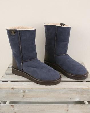 Original Celt Sheepskin Boots Reg - Size 6 - Blue Iris - 2005