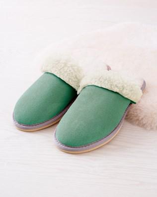 Ladies Turnback Mules - Sea Green - Size 9 - 2484