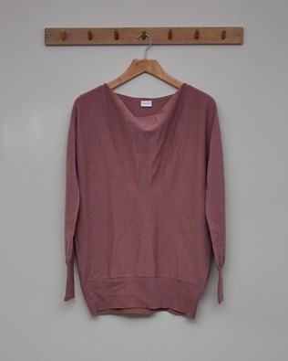 Soft Cowl Jumper - Size Small - Heather - 2351