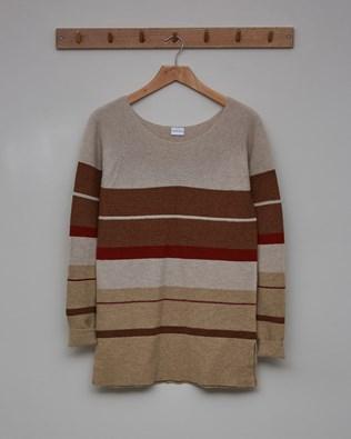 Yoke Detail Tunic - Size Small - Rust, Autumn Brown, Camel - 2450