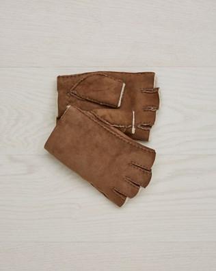 Ladies' Fingerless Gloves - Size Large - Walnut - 2370