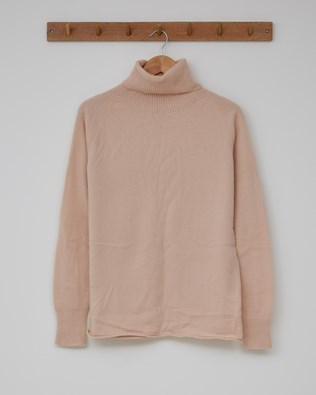 Geelong Slouch Roll Neck - Size Extra Small - Peony - 2374