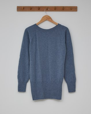 Supersoft Slouch Jumper - Size Small - Vintage Blue - 2381