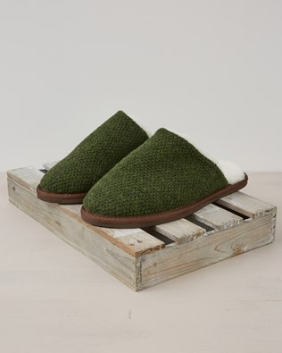 Knitted Mule - Size 9 - Forest Green - 2386