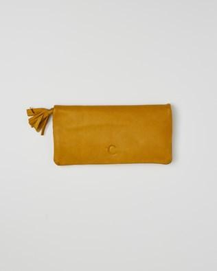 Veg Tan Leather Rectangle Purse - One/Size - Gorse - 2400
