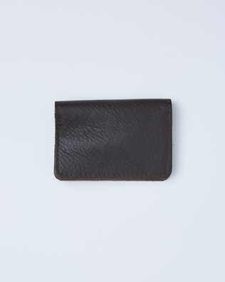Leather Flip Open Card Wallet - One/Size - Tanners Brown - 2408