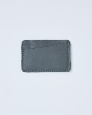 Leather Card Wallet - One/Size - Derby Grey - 2413