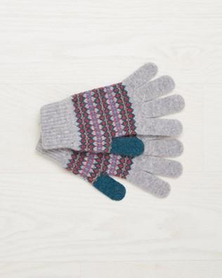Lambswool Fairisle Glove - Fossil Fairisle - One Size - 2493